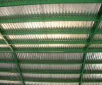 interior view of metal roof made from galvanized sheet metal