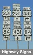 galvannealed coated metal is excellent for highway signs