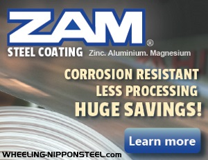 ZAM® coated steel from NS Wheeling-Nisshin: corrosion resistant, less processing, huge savings.