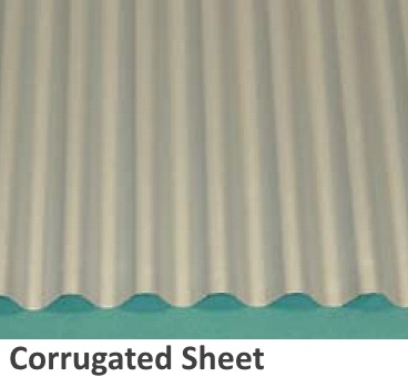 ZAM® coated steel processed into corrugated sheet form