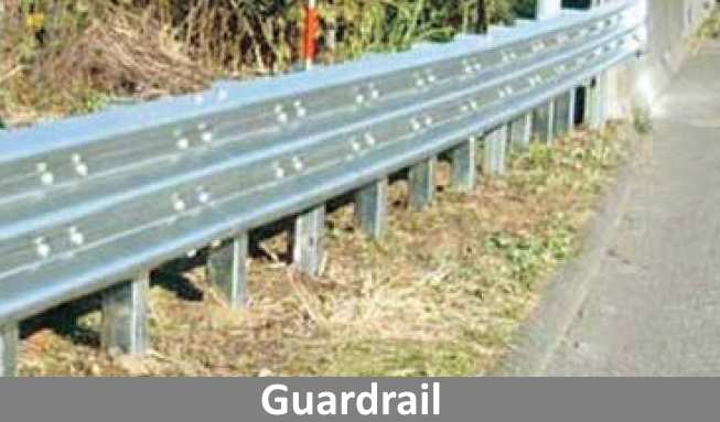 Guardrails made from corrosion resistant ZAM® coated metal.