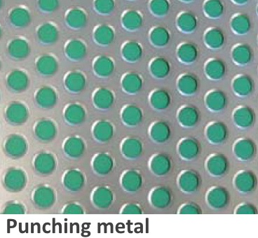 ZAM® coated steel processed into punching-metal form