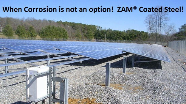 Solar grids that can be made from durable ZAM® coated metal.