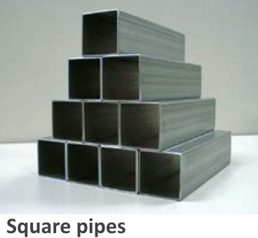 ZAM® coated steel processed into square pipes